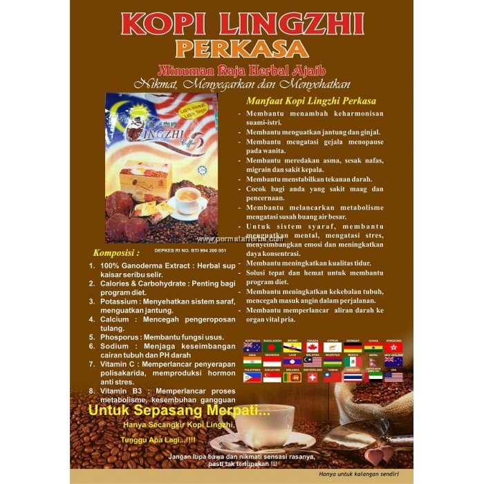 Lingzhi Coffee DXN 3in1 - Premium Coffee with Ganoderma Extract ... 858ce4554e