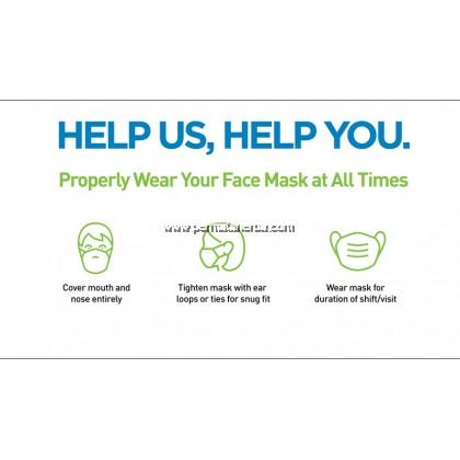 Face Mask 3 ply 50pcs - 1 Box