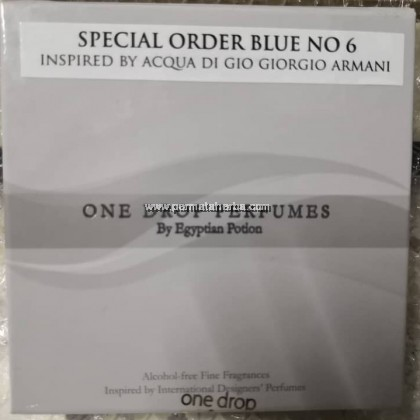 One Drop Perfume Special Order Blue No.6